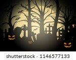 halloween background and scary... | Shutterstock .eps vector #1146577133