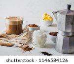 ketogenic keto diet drink....   Shutterstock . vector #1146584126