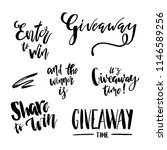 giveaway lettering text set.... | Shutterstock .eps vector #1146589256