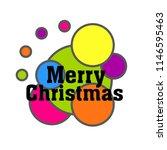 merry chritmas  cute label ... | Shutterstock .eps vector #1146595463