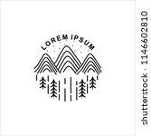line art mountain logo design | Shutterstock .eps vector #1146602810