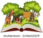 wild animal and jungle theme... | Shutterstock .eps vector #1146610229