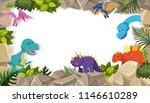 dinosaur frame theme concept... | Shutterstock .eps vector #1146610289
