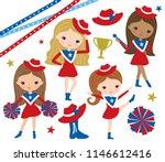 vector illustration of cute... | Shutterstock .eps vector #1146612416