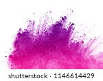 freeze motion of colored powder ... | Shutterstock . vector #1146614429