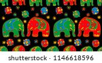 seamless asian pattern with... | Shutterstock .eps vector #1146618596