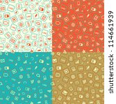 seamless pattern set with media ... | Shutterstock .eps vector #114661939