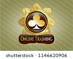 gold shiny emblem with poker... | Shutterstock .eps vector #1146620906
