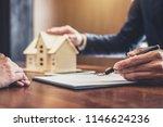 real estate broker agent... | Shutterstock . vector #1146624236