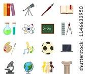 vector set of color flat school ... | Shutterstock .eps vector #1146633950