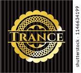 trance golden badge or emblem | Shutterstock .eps vector #1146634199