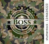 boss written on a camo texture | Shutterstock .eps vector #1146634223