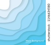 white to blue 3d wave... | Shutterstock .eps vector #1146634580
