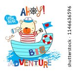 adventure of bear design art... | Shutterstock .eps vector #1146636596
