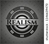 realism black badge | Shutterstock .eps vector #1146639470
