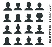 set of the avatars collection | Shutterstock .eps vector #1146642839
