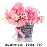 Bouquet Of Eustoma Flowers In ...