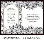 romantic wedding invitation... | Shutterstock . vector #1146643733