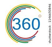 360 degrees angle sign on white ... | Shutterstock .eps vector #1146650846