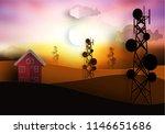 silhouette of telecommunication ... | Shutterstock .eps vector #1146651686