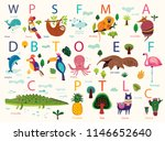 vector poster with cute animals.... | Shutterstock .eps vector #1146652640