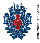 group of prayer  christian... | Shutterstock .eps vector #1146656933
