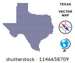 dotted texas map. abstract... | Shutterstock .eps vector #1146658709