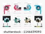 set of design of brochure ...   Shutterstock .eps vector #1146659093