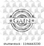 gain retro style grey emblem... | Shutterstock .eps vector #1146663230