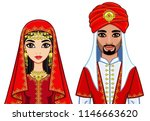 animation portrait of the arab... | Shutterstock .eps vector #1146663620