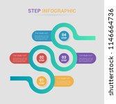 modern vector abstract step... | Shutterstock .eps vector #1146664736