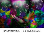 space and numerology background | Shutterstock . vector #1146668123