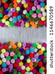 a colorful  pom pom background... | Shutterstock . vector #1146670589
