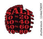 discount sale 10  20  30  40 ... | Shutterstock .eps vector #1146670859