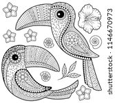 coloring book for adults....   Shutterstock . vector #1146670973
