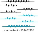 rowing eights and fours... | Shutterstock .eps vector #114667450