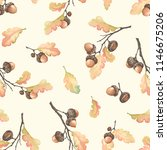 autumn seamless pattern with... | Shutterstock .eps vector #1146675206