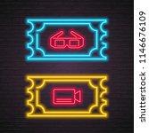 cinema bilet and glasses ...   Shutterstock .eps vector #1146676109