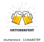 october fest concept. two gig... | Shutterstock .eps vector #1146680789