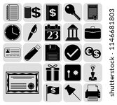 set of 22 business high quality ... | Shutterstock .eps vector #1146681803