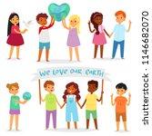 children world vector happy...   Shutterstock .eps vector #1146682070