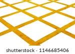 yellow cross line on white...   Shutterstock . vector #1146685406