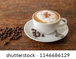 morning cappuccino coffee  and...   Shutterstock . vector #1146686129