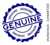 grunge blue genuine word round... | Shutterstock .eps vector #1146687203