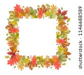 autumn leaves square template... | Shutterstock . vector #1146688589