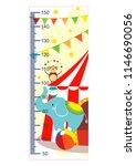 growth meter  circus  children... | Shutterstock .eps vector #1146690056