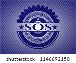 sos denim background | Shutterstock .eps vector #1146692150