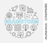 brainstorm round outline... | Shutterstock .eps vector #1146696083
