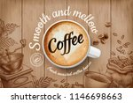 coffee ads with top view 3d... | Shutterstock .eps vector #1146698663