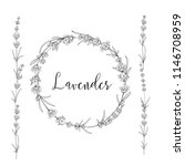 the lavender elegant card with...   Shutterstock .eps vector #1146708959